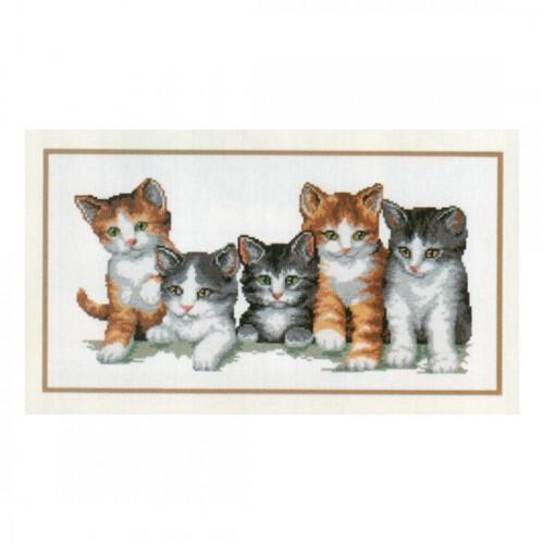 Кошачье семейство вышивка крестом 14