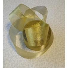 Лента парча золото 25мм